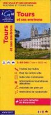 Tours mit Umgebung 1 : 80 000 Freizeitkarte
