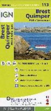 IGN 1 : 100 000 Brest Quimper
