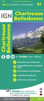 IGN 75 000 Touristische Wanderkarte 02 Chartreuse Belledonne