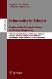 Informatics in Schools. Fundamentals of Computer Science and Software Engineering