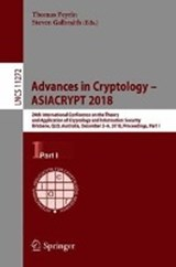 Advances in Cryptology - ASIACRYPT 2018 | auteur onbekend |