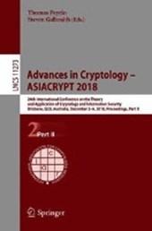 Advances in Cryptology - ASIACRYPT 2018