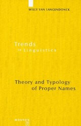 Theory and Typology of Proper Names | Willy van Langendonck |