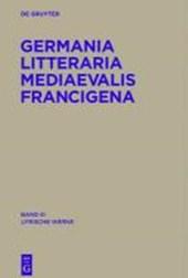 Germania Litteraria Mediaevalis Francigena 3. Lyrische Werke