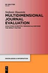 Multidimensional Journal Evaluation | Stefanie Haustein |