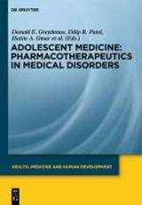 Adolescent Medicine: Pharmacotherapeutics in Medical Disorders | auteur onbekend |