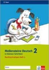 Meilensteine Deutsch in kleinen Schritten. Heft 2. Rechtschreiben 2. Schuljahr