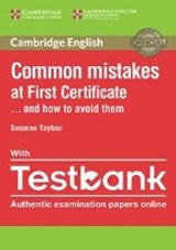Common Mistakes at First Certificate...and how to avoid them | auteur onbekend |