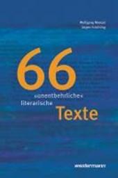 """66 """"unentbehrliche"""" literarische Texte"""