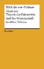 Texte zur Theorie der Erkenntnis und der Wissenschaft