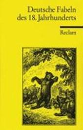 Deutsche Fabeln des 18. Jahrhunderts