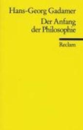 Der Anfang der Philosophie