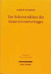 Zur Rekonstruktion des Generationenvertrages