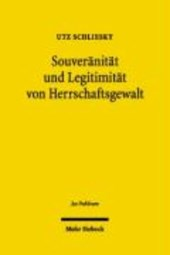 Souveranitat Und Legitimitat Von Herrschaftsgewalt