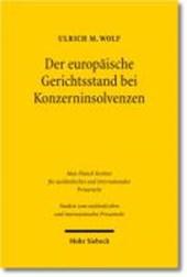 Der europäische Gerichtsstand bei Konzerninsolvenzen