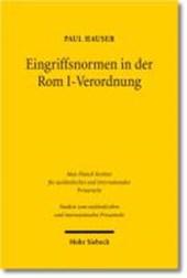 Eingriffsnormen in der Rom I-Verordnung