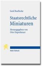 Staatsrechtliche Miniaturen