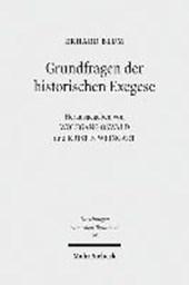 Grundfragen der historischen Exegese