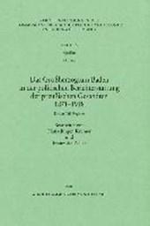 Das Großherzogstum Baden in der politischen Berichterstattung der preußischen Gesandten III. Register