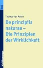 De principiis naturae - Die Prinzipien der Wirklichkeit