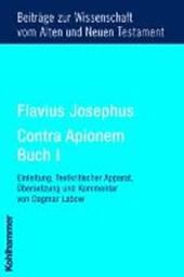 Flavius Josephus Contra Apionem, Buch I