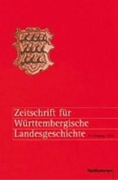 Zeitschrift für württembergische Landesgeschichte 73. Jahrgang