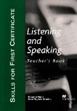 Skills for First Certificate Listening and Speaking. Teacher's Book | Malcolm Mann |