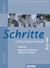 Schritte international 1+2. Glossar Deutsch-Türkisch