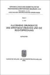 Allgemeine Grundsätze des Strafgesetzbuches und die Rechtsprechung