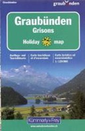 KuF Graubünden 1 : 120 000. Holiday Map