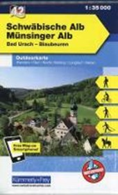 KuF Deutschland Outdoorkarte 42 Schwäbische Alb Münsinger Alb 1 : 35.000