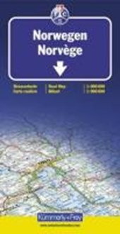 KuF Norwegen 1 : 800 000 / 1 : 900 000. Straßenkarte