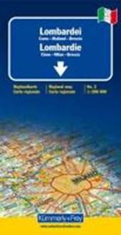 KuF Italien Regionalkarte 02. Lombardei de Agostini 1 :