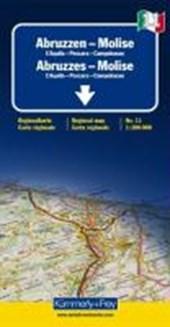 KuF Italien Regionalkarte 11. Abruzzen - Molise de Agostini 1 :
