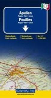 KuF Italien Regionalkarte 13. Apulien Foggia - Bari - Lecce 1 :