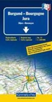 KuF Frankreich Regionalkarte 13 Burgund / Jura 1 :