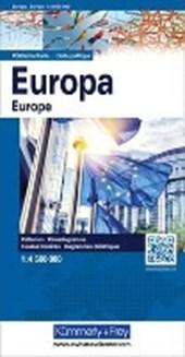 KuF Europa, politische Karte 1 : 4.5
