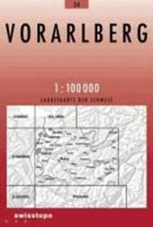 Swisstopo 1 : 100 000 Vorarlberg