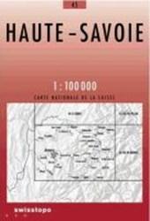 Swisstopo 1 : 100 000 Haute-Savoie