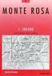 Swisstopo 1 : 100 000 Monte Rosa