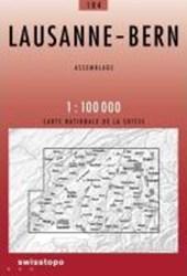 Swisstopo 1 : 100 000 Lausanne - Bern