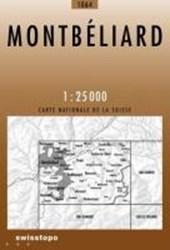 Swisstopo 1 : 25 000 Montbéliard