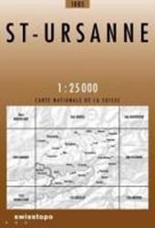 Swisstopo 1 : 25 000 St-Ursanne