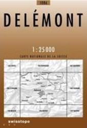 Swisstopo 1 : 25 000 Delémont