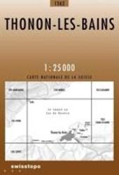 Swisstopo 1 : 25 000 Thonon-les-Bains