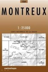 Swisstopo 1 : 25 000 Montreux