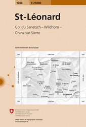 Swisstopo 1 : 25 000 St-Léonard