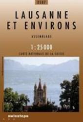 Swisstopo 1 : 25 000 Lausanne et environs
