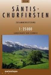 Swisstopo 1 : 25 000 Säntis - Churfirsten
