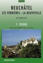Swisstopo 1 : 50 000 Neuchâtel Les Verrières - La Neuveville